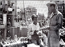 Pfc Fred Brown Buying Doll in Tokyo  WWII Dispatch Photo News Service