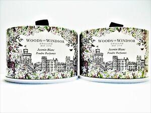 Woods of Windsor WHITE JASMINE Dusting Powder 3.5 oz., NEW x 2
