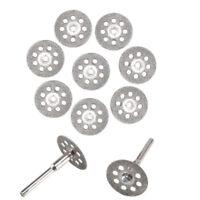 10x Mini Diamant Coupe Disque Roue Lame de Scie Kit Pour Rotatif Outil