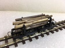 Roco 34602 Narrow Gauge H0e/009 Bolster Truck Wagons Set (With Load) - T48 Post