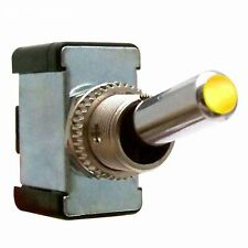 All Metal Toggle Switch With LED - Yellow 20a/12v muscle cars streets rods