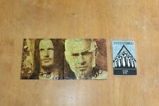 Disturbed - Autographed CD cover + Laminated Backstage Pass - FREE SHIPPING