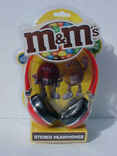2016 M&M's RED STEREO HEADPHONES MINT IN PACKAGE OLD STOCK