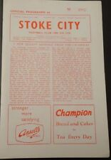 Stoke City v Rotherham United, 19 August 1961