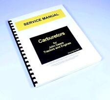 Carburetor Service Manual John Deere Model R Diesel Cranking Engine Gas Tractor