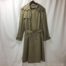 Mighty-Mac Classic Collection Tan Khaki Double Breasted Heavy Trench Coat Sz 42