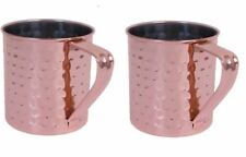 Copper Mule Mug Hammered Effect Gift Set of 2 ,Cocktail Kitchen Use