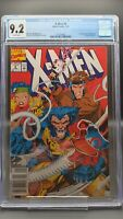 X-Men #4 CGC 9.2 (1991) Marvel - Newsstand - 1st App of Omega Red