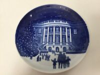 """1987 B &G Bing & Grondahl """"Christmas Eve at the Whitehouse"""" Plate, 5 1/4"""" Dia"""