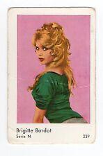 1960s Swedish Film Star Card Serie N #239 French Sex Symbol Brigitte Bardot