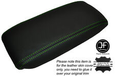 GREEN STICH NON SLIDING ARMREST LID LEATHER SKIN COVER FITS JAGUAR X-TYPE 01-09
