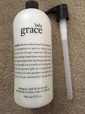 Philosophy baby GRACE Shampoo Shower Gel & Bubble Bath With PUMP - 32 Oz