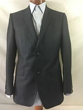 New Z Zegna Blue Wool 2-BT Suit 38R/W32 EU 48R.