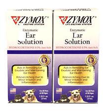 Lot Of 2 ZYMOX Enzymatic Ear Solution With Hydrocortisone 0.5% Anti-Itch 1.25oz