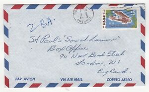 1969 CANADA Air Mail Cover DON MILLS Ont to LONDON GB Aircraft
