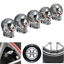 5Pcs Car Auto Skull Wheel Tyre Tire Stem Air Valve Caps Dust Covers Universal