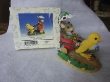 """Retired Charming Tails """"Chickie Chariot Ride"""" Dean Griff ~ Spring chick w/mouse"""