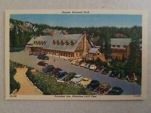 US Paradise Inn Vintage Postcard  Rainier National Park Washington , New
