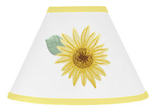 Yellow Green White Farmhouse Sunflower Boho Floral Girl Lamp Shade by Sweet Jojo
