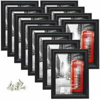 12 Pack 5x7 Picture Frames White Photo Frame Set Wall Hanging and Tabletop Black