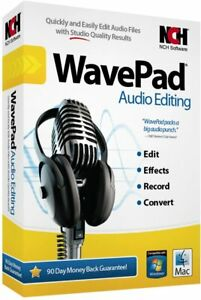 NCH WavePad Audio Editing Free Shipping!