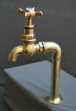 BRASS BELFAST SINK TAP, SINGLE DRINKING WATER TAP, RECLAIMED & FULLY REFURBISHED