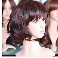 Wigs,brun court Bouclé santé cosplay Costume cheveux perruques