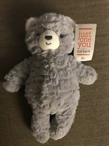 NWT Carters Just One You Gray Bear Plush Target Stuffed Baby Lovey Toy 67752