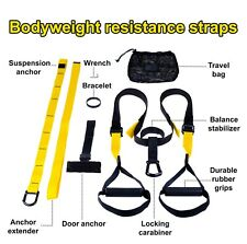 Bodyweight Resistance Straps Suspension Trainer Kit Home Fitness Training PRO3