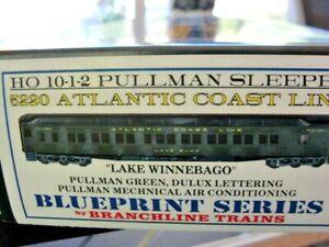 "HO Branchline 5220 Atlantic Coast Line Sleeper ""Lake Winnebago"" Kit NIB"