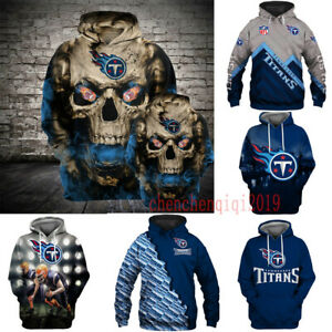 Tennessee Titans Hoodies Pullover Football Hooded Sweatshirt Fans Jacket Coat