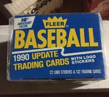 1990 Fleer Baseball Traded Set NIB