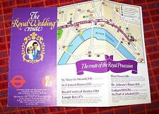 THE ROYAL WEDDING ROUTE LEAFLET PRINCE OF WALES TO DIANA SPENCER. 1981. LT