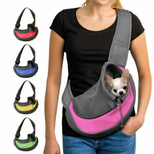 Pet Sling Carrier Hands Free Sling Dog Cat Carry Bag Soft Puppy Shoulder Pouch