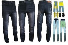 Mens MOTORBIKE Motorcycle BK Bike Reinforced Jean Made With DuPont™ Kevlar® AU