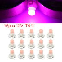 15pcs 12V Pink T4.2 Car Wedge LED Dash Gauge Instrument Panel Light Interior