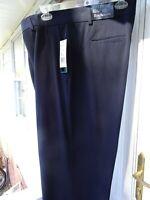 Kim Rogers Women's Navy Blue Career Stretch Dress Pants Flat Front Size 18 NEW