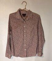 Liberty Art Fabrics for J. Crew Women's Size 6 Floral Print Button Front Shirt