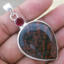 Bloodstone Gemstone, Topaz Solid Handmade Pendant Ethnic Jewelry PS-038