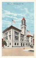 C92/ Savannah Georgia Ga Postcard c1915 Post Office Building