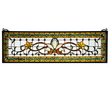 FAIRY TALE TRANSOM STAINED AND LEADED GLASS WINDOW, VICTORIAN FLAIR~~~