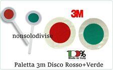 Paletta Segnaletica Stradale Disco Rosso + Verde  Classe III° Neutra 3M original