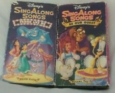 Lot of  2 Disney Sing Along Songs Children's VHS