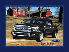 "Ford Motors - Ford F-150 Truck Scenic Cotton Fabric Panel 36"" x 44"""