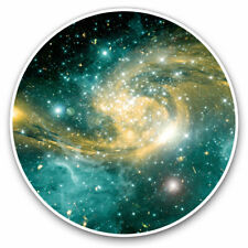 More details for 2 x vinyl stickers 20cm - awesome space nebula galaxy nasa cool gift #24258