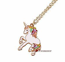 Arcoiris unicornio Collar Para Chicas Joyería con colgante regalo de Cumpleaños