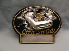 open hood  car resin oval plaque car show diner trophy BT792 (G5) 3 car award