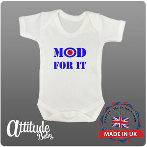 Plain White Baby Grow-Printed-Mod For It-Mod Baby Clothes-Baby Vest-The Jam Vest
