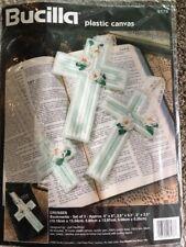 Bucilla Plastic Canvas 3 Crosses Bookmark Kit 6178 NIP 1995 Vintage Cross NEW