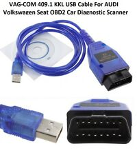 Cable USB KKL VAG-com 409.1 OBD2 II OBD Diagnóstico Escáner Para VW Audi Seat Vcd